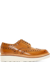 Tan leather archie wingtip brogues medium 153105