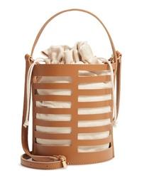 Emperia Cutout Round Bucket Crossbody Bag