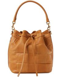 Emmanuelle Paneled Leather Medium Bucket Bag