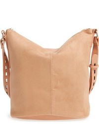 Street Level Faux Leather Bucket Bag Beige