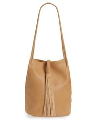 Street Level Faux Leather Bucket Bag Brown