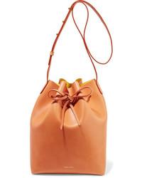 Mansur Gavriel Leather Bucket Bag Camel