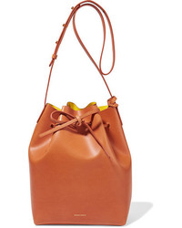 Mansur Gavriel Leather Bucket Bag Camel
