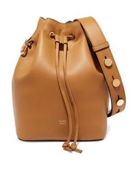Fendi Mon Trsor Leather Bucket Bag