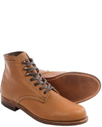 Tan Leather Casual Boots