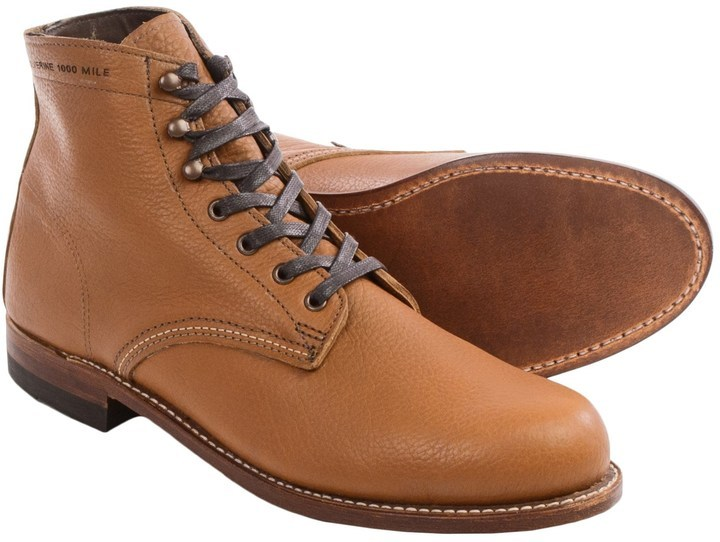 5b1e64d88b0 $99, Wolverine 1000 Mile Centennial American Bison Leather Boots