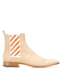 Off-White Diagonals Detail Chelsea Boots