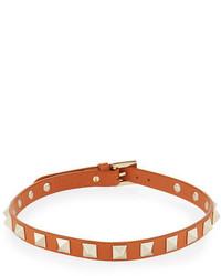 Leather rockstud choker necklace medium 4473352