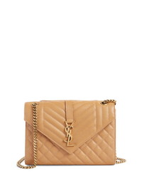 Saint Laurent Monogram Leather Envelope Clutch