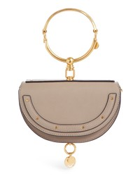 Chloé Small Nile Bracelet Calfskin Leather Minaudiere