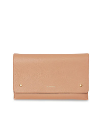 Burberry Two Tone Leather Wristlet Clutch