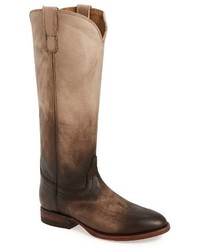 Tan Leather Cowboy Boots