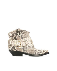 Zimmermann Snakeskin Print Cowboy Boots