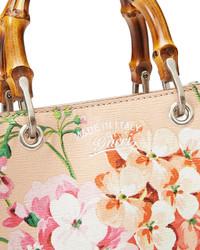 b91ac085574a Gucci Bamboo Shopper Mini Blooms Crossbody Bag Nude, $1,400 | Neiman ...