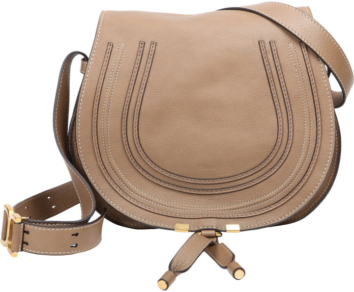 Chlo¨¦ Marcie Crossbody Saddle Bag Brown | Where to buy \u0026amp; how to wear