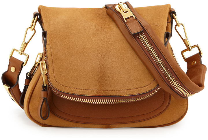 e70374c08e ... Leather Crossbody Bags Tom Ford Jennifer Medium Combo Crossbody Bag Tan  ...