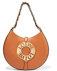 Loewe Joyce Leather Shoulder Bag Tan