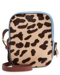 Diane von Furstenberg Leather Genuine Calf Hair Camera Bag