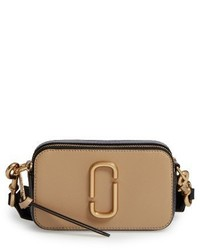 Marc Jacobs Snapshot Leather Crossbody Bag Black