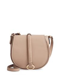 BP. Metal Ring Faux Leather Saddle Bag