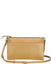 Mofe Sonder Convertible Crossbody Bifold Wallet Clutch With Adjustable Strap In Perforated Leather