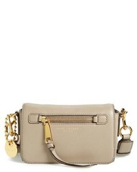 Marc Jacobs Recruit Leather Crossbody Bag Brown