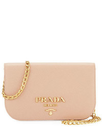Prada Small Curved Flap Mini Crossbody Bag