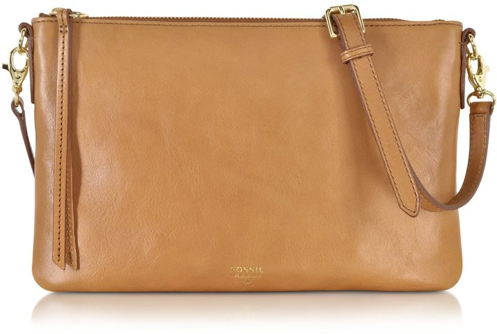 ... Leather Crossbody Bags Fossil Sydney Top Zip Flat Crossbody Bag ... b617d1284cd4b