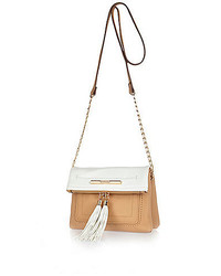 River Island Tan Tassel Front Cross Body Handbag