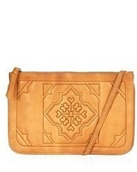 Topshop Tile Quilted Leather Crossbody Bag