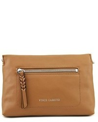 Vince Camuto Wilma Crossbody Leather Tan Messenger