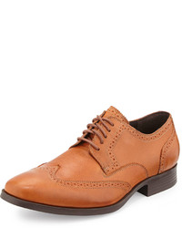 Cole Haan Copley Leather Wingtip Oxford British Tan