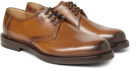 ce145739ae60 ... Tan Leather Derby Shoes Gucci Leather Derby Shoes ...