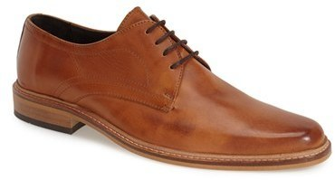 abf62160ebd1bd ... Tan Leather Derby Shoes Dune London Rotterdam Plain Toe Derby ...