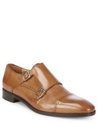 Leather Double Monk Strap Dress Shoes