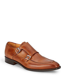 Saks Fifth Avenue Leather Monk Strap Shoes