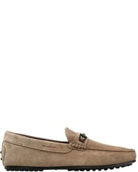 Tod's Clamp City Gommino Suede Driving Shoes