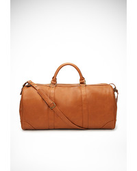 Tan Leather Duffle Bag