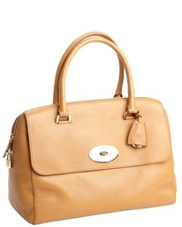Mulberry Camel Textured Leather Top Handle Satchel