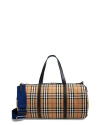 Burberry Medium Kennedy Vintage Check Duffel Bag