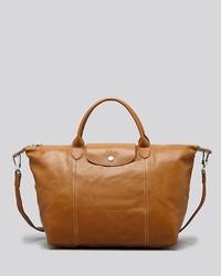 Longchamp Satchel Le Pliage Cuir Medium