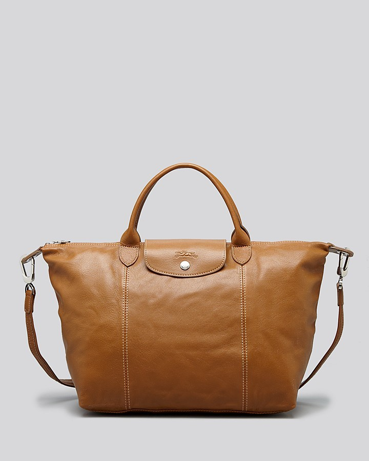 Duffle Bags Longchamp Satchel Le Pliage Cuir Medium