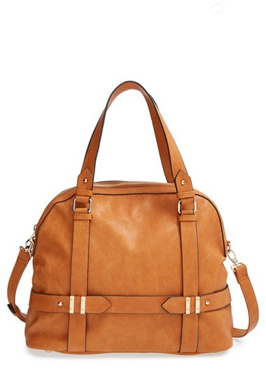 Sole Society Tristan Faux Leather Bowler Bag
