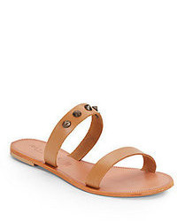 Tan Leather Flat Sandals