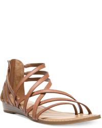 Carlos by Carlos Santana Amara Strappy Flat Sandals Shoes