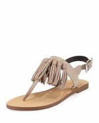 f5b2caad882303 ... Rebecca Minkoff Erin Leather Tassel Flat Sandal Sand