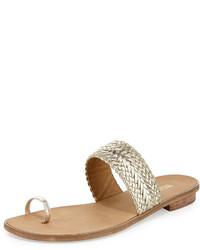 8d79bf2db ... Luggage Out of stock · MICHAEL Michael Kors Michl Michl Kors Daniella  Braided Leather Flat Sandal Light Gold