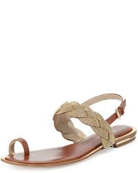 f4596e8c6 ... MICHAEL Michael Kors Michl Michl Kors Hannalee Chain Flat Sandal Luggage