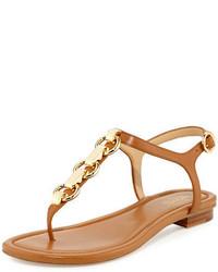 6abaa744552 ... MICHAEL Michael Kors Michl Michl Kors Mahari Leather Flat Thong Sandal
