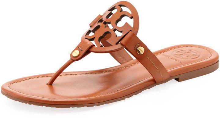 75f9592c0aff ... Tory Burch Miller Logo Flat Thong Sandal ...